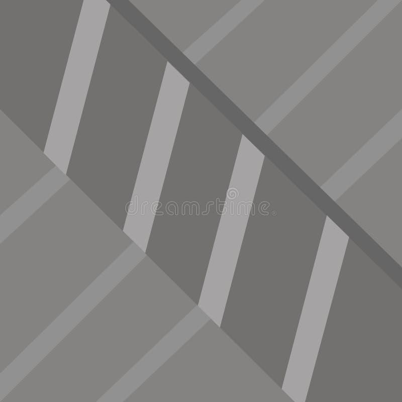 Modern Recht Lineair Ontwerp met Diepte Ongelijke Vorming en Grootte van Strepen in Perspectief r vector illustratie