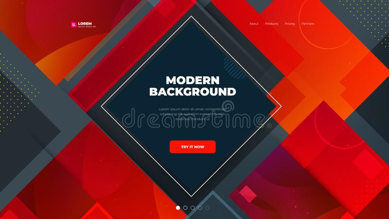 Modern Red Background, great design for any purposes. Abstract vector illustration. Business concept. Red brochure stock illustration