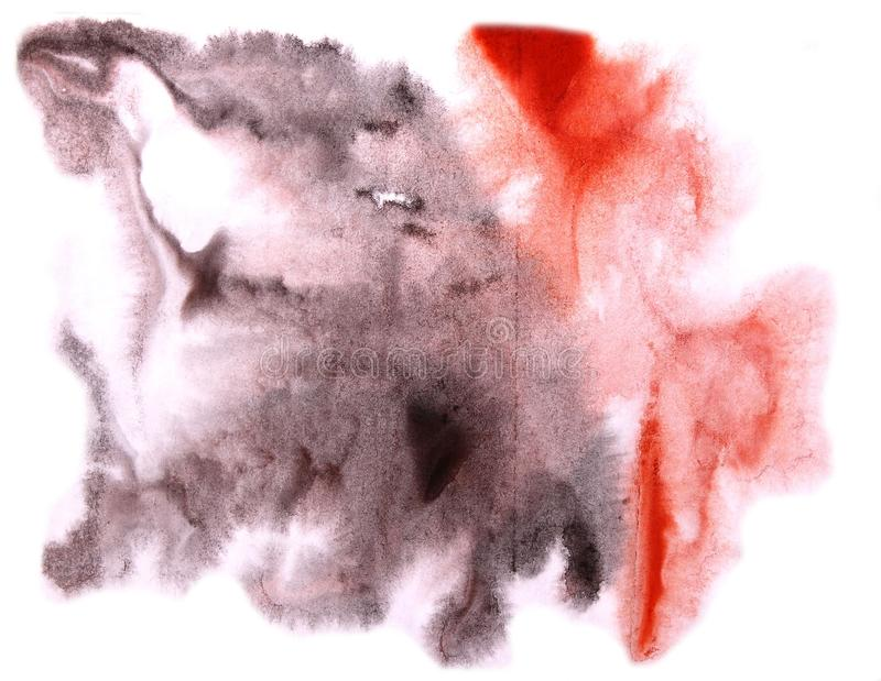 Modern red,black art avant-guard artist seamless background cub. Ism abstract art texture watercolor wallpaper royalty free stock photo