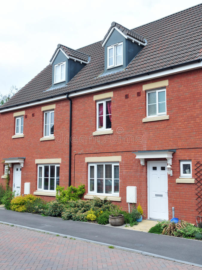 Modern Red Brick Houses Stock Image Image Of Apartments