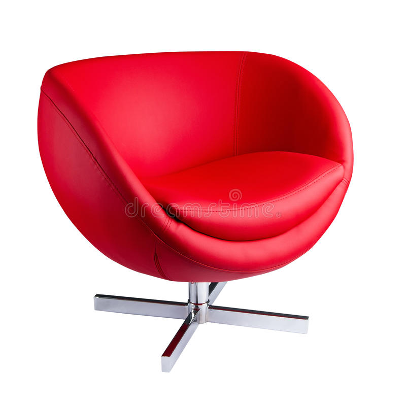 Modern red chair stock images