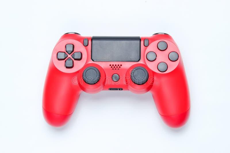 Modern red gamepad & x28;joystick& x29; stock photography