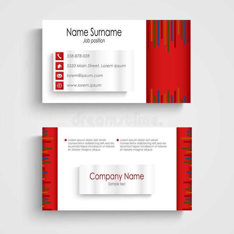 Modern red light business card template stock vector illustration download modern red light business card template stock vector illustration of creative information fbccfo Choice Image