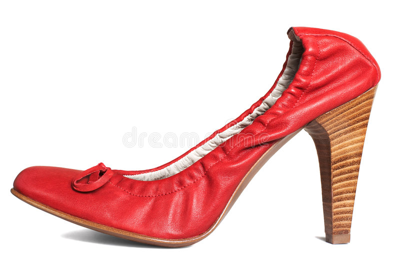 Modern red shoes royalty free stock photography