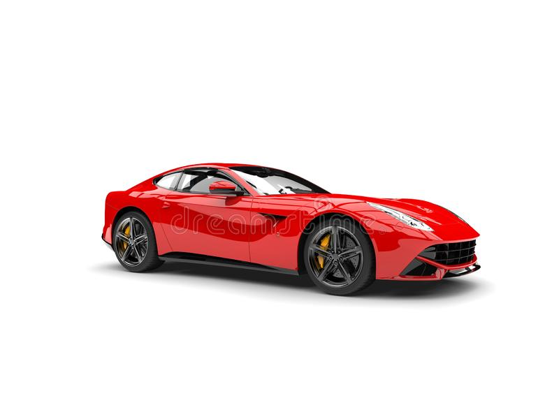 Modern red sports concept car. Isolated on white background stock illustration