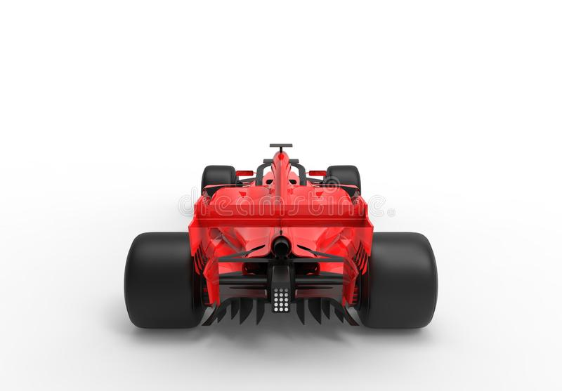 Modern red sports race car isolated royalty free illustration
