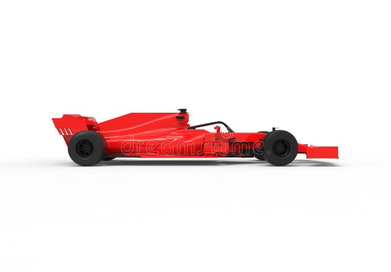 Modern red sports race car isolated stock illustration