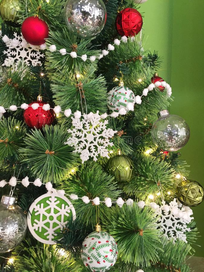 Merry Modern Christmas Tree royalty free stock photography