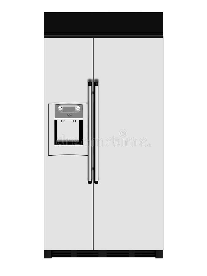 Download Modern refrigerator stock illustration. Image of culinary - 13244228