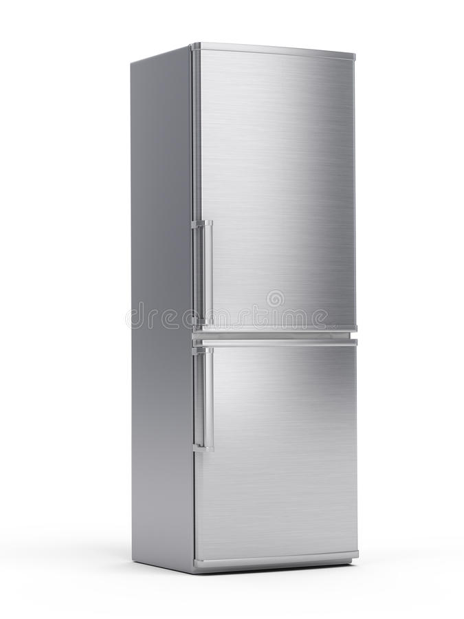Modern refrigerator vector illustration