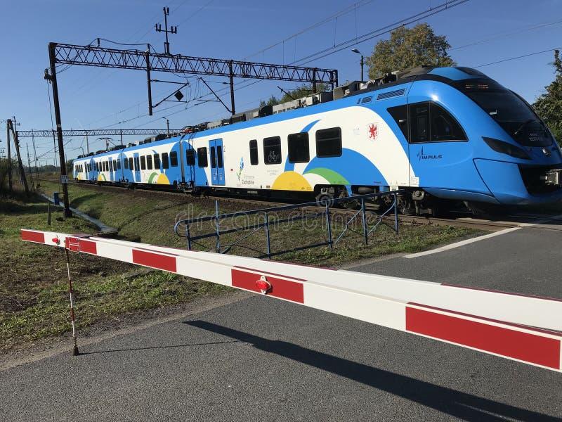 A modern regional train in northern Poland royalty free stock photos