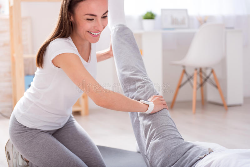 Modern rehabilitation physiotherapy royalty free stock photos