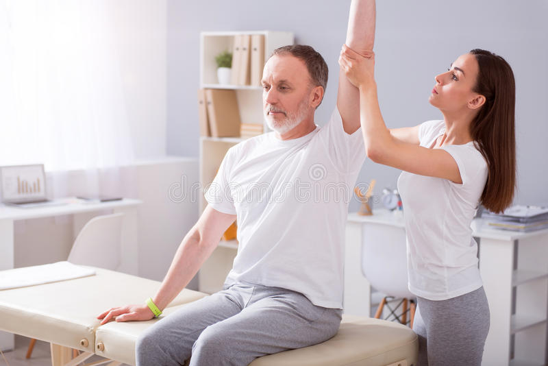 Modern rehabilitation physiotherapy royalty free stock photo