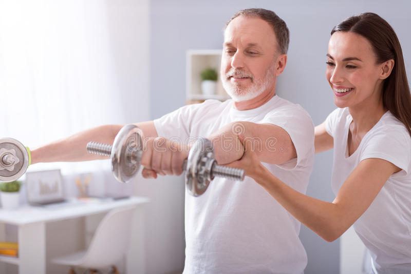 Modern rehabilitation physiotherapy royalty free stock photography