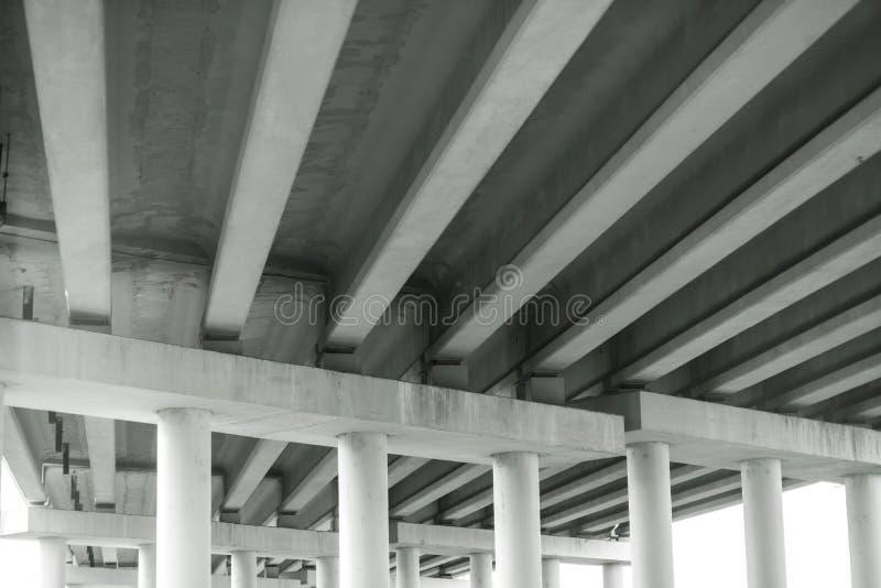 modern reinforced concrete bridge, bottom view - image royalty free stock photos