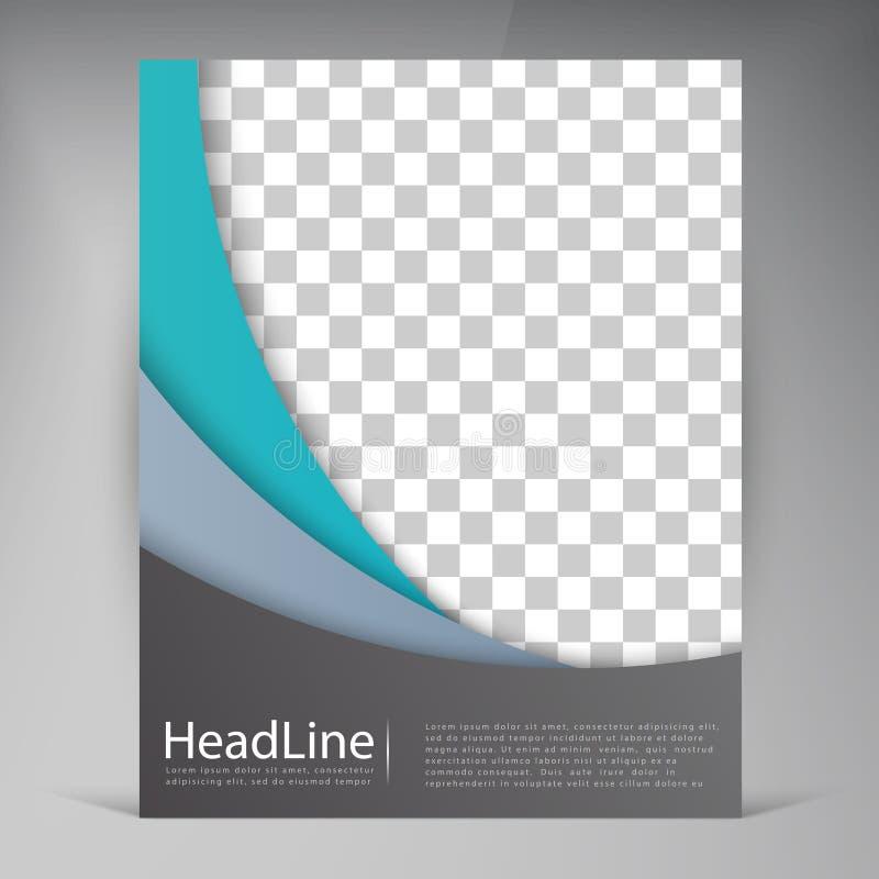 Modern reklambladbroschyr för abstrakt vektor vektor illustrationer