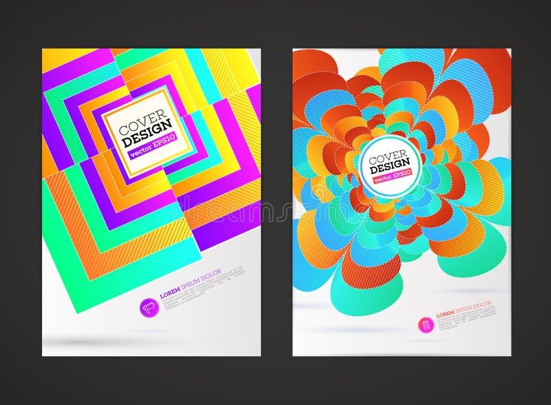 Modern reklambladbroschyr för abstrakt vektor, stock illustrationer