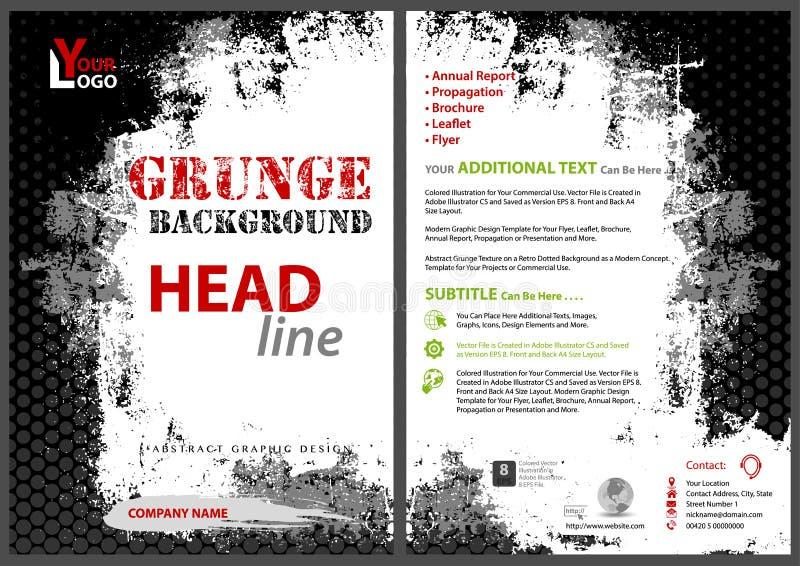 Modern reklambladmall med Grungebakgrund stock illustrationer