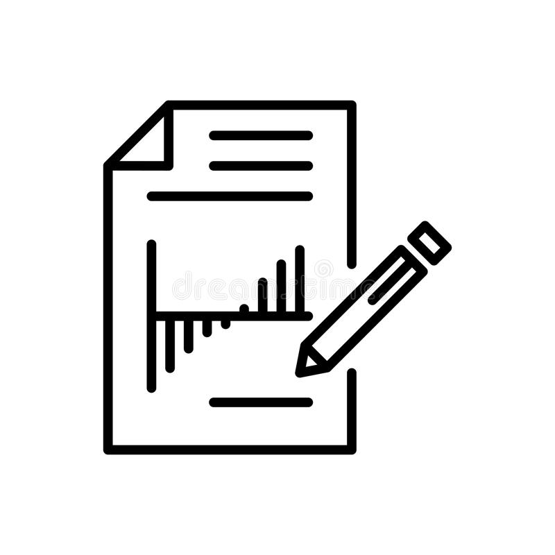 Modern report line icon stock illustration