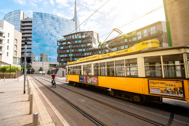 Modern residantial district in Milan royalty free stock photography