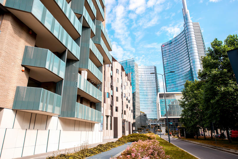Modern residantial district in Milan royalty free stock photo