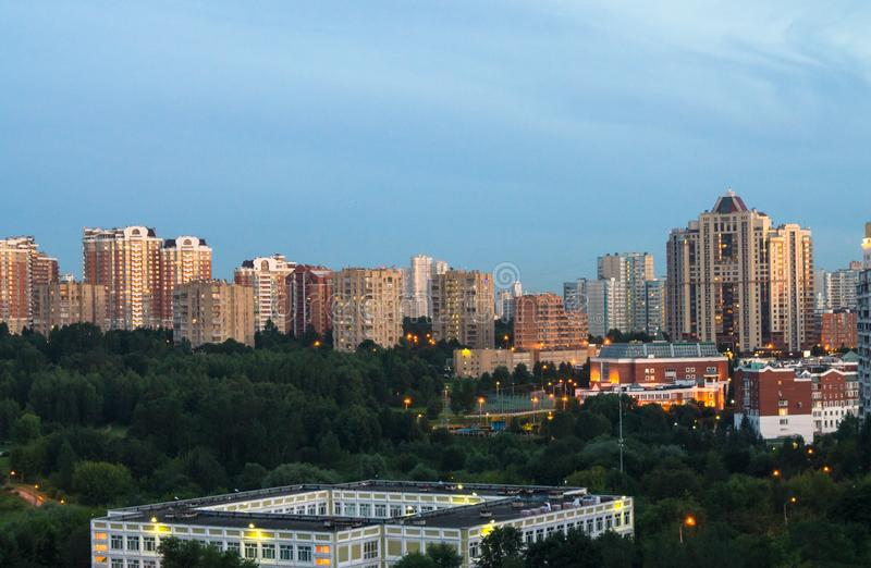 Modern residental and business district in Moscow stock photography