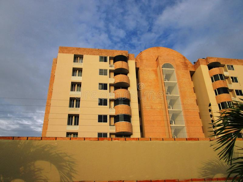 Modern residential apartment building stock photography