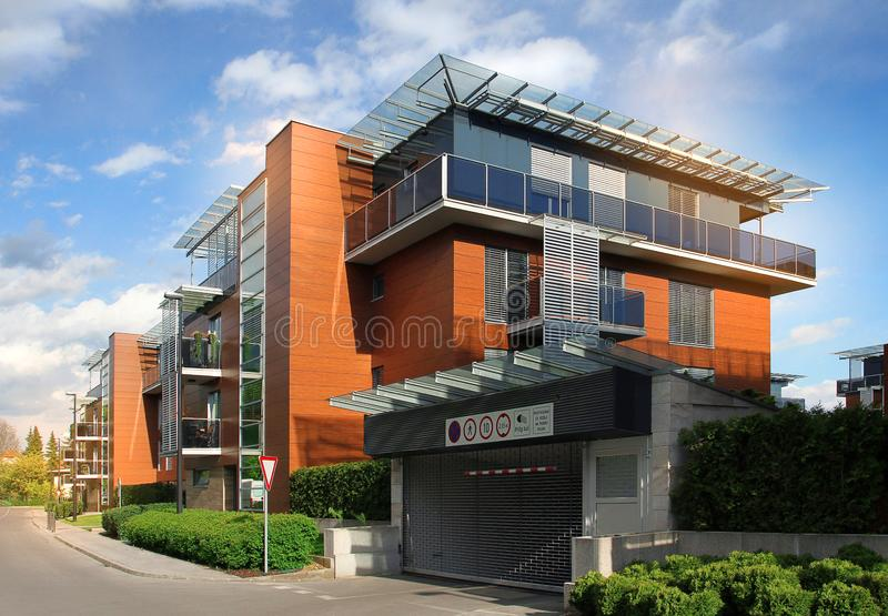Modern residential appartment building complex royalty free stock photo