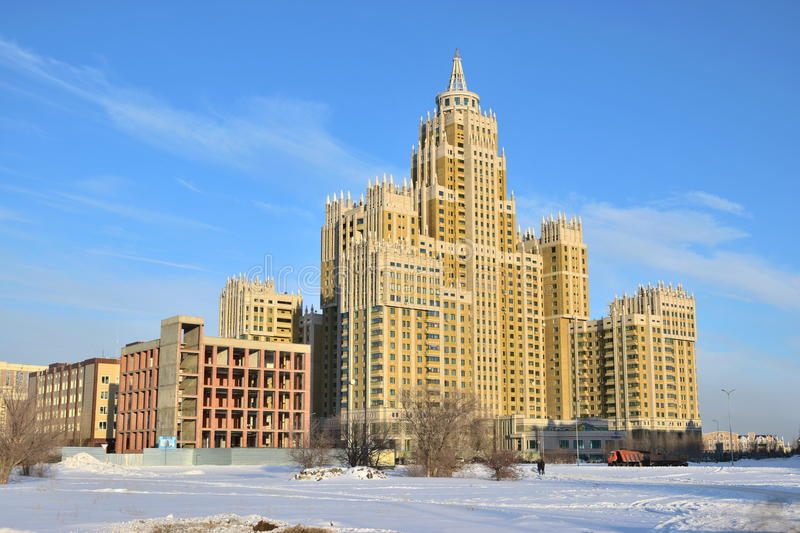 Modern residential bulding in Astana royalty free stock images