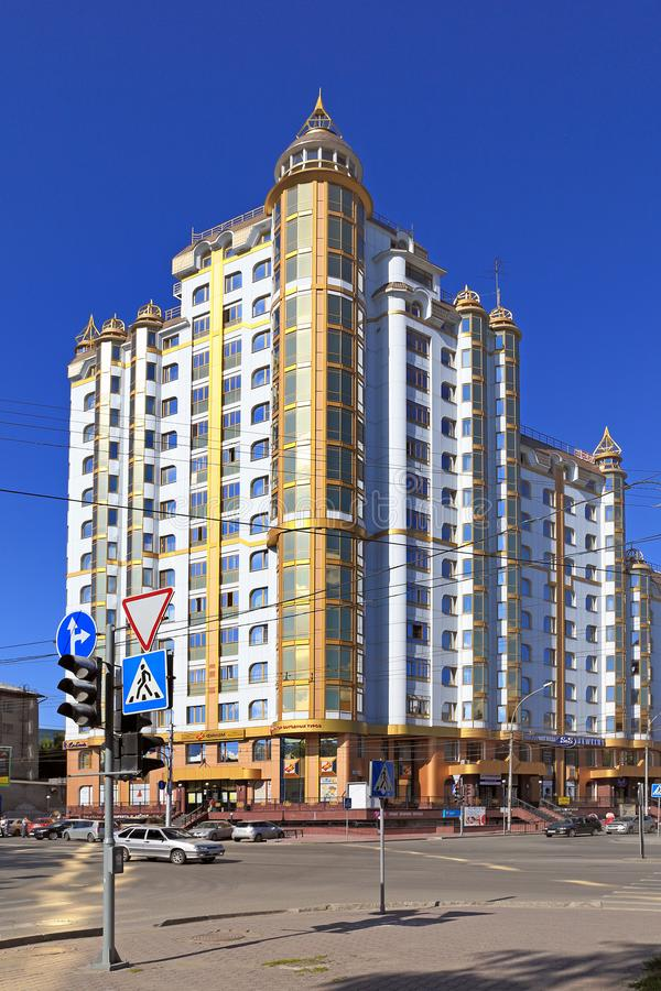 Modern residential complex stock images