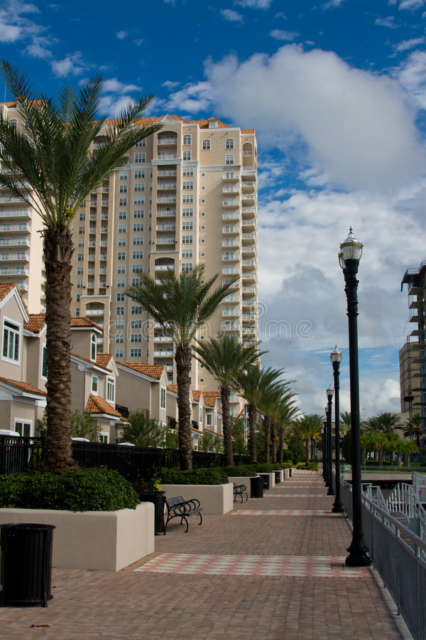 Modern residential development royalty free stock photography