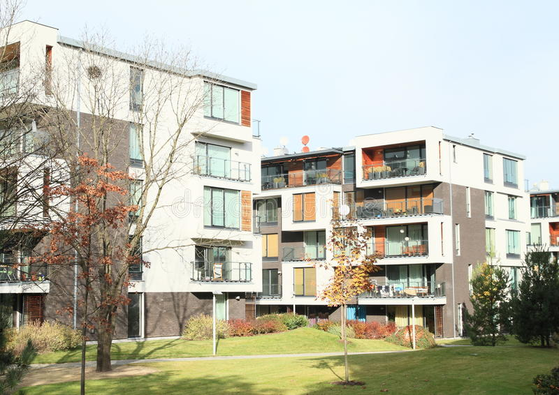 Modern residential houses royalty free stock images
