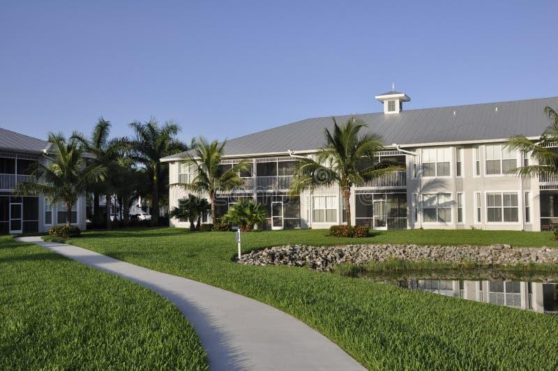 Modern resort building royalty free stock photos