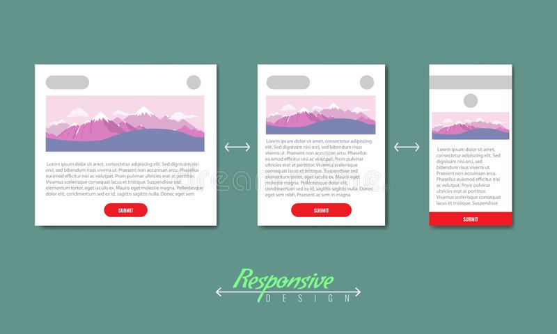 Modern responsive web design browsers consept infographic. Vector illustration. Modern responsive web design browsers consept infographic. High detailed vector vector illustration