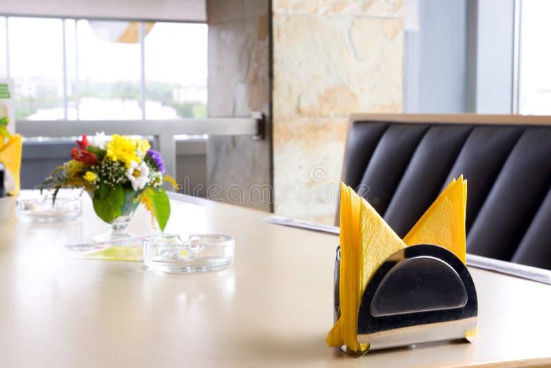 Modern restaurant. Restaurant furniture in a modern place stock photo