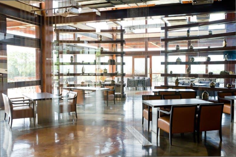 Modern restaurant. In club house royalty free stock photos