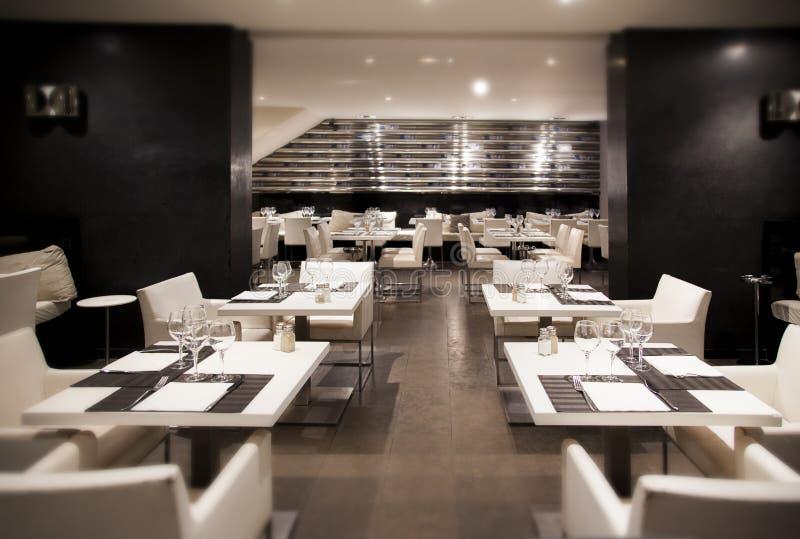 Modern restaurant royalty free stock photo
