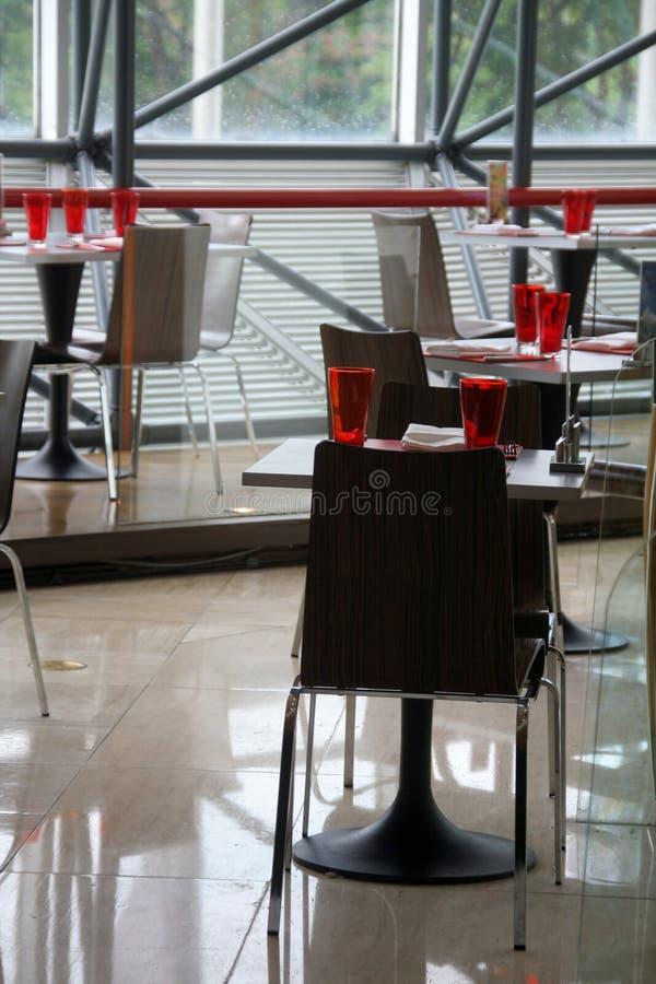 Modern restaurant. Empty modern restaurant awaits for it's customers royalty free stock image
