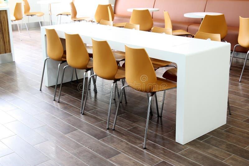 Modern restaurant. Interior ,chair around table stock photos