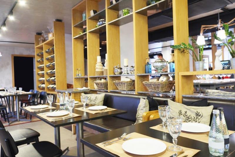 Modern restaurant. Image of an Interior of modern restaurant stock photo