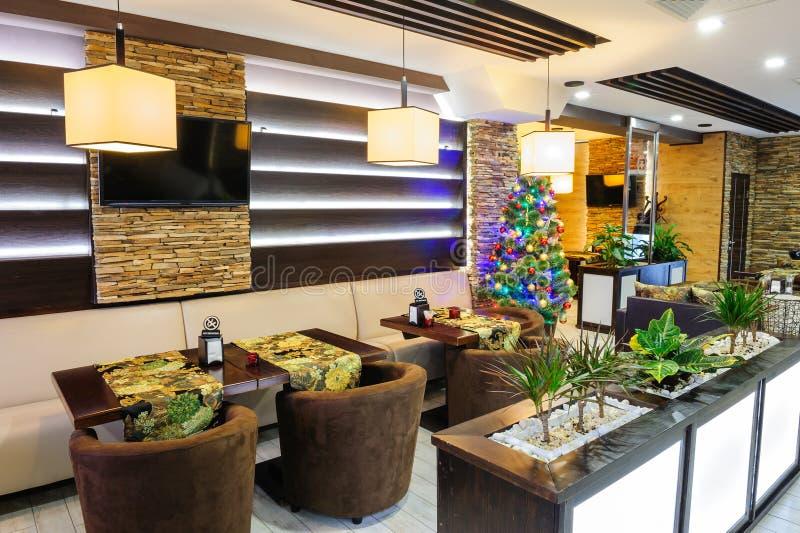 Modern restaurant interior stock photography
