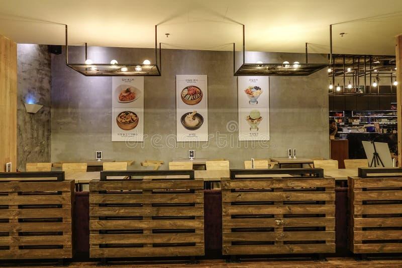 Modern restaurant in Kuala Lumpur stock foto