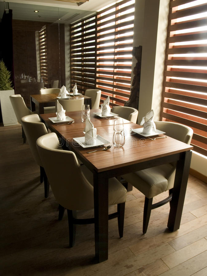 Modern Restaurant Table Setting royalty free stock photo
