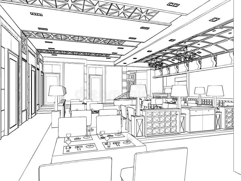 Download Modern Restaurant Vector 03 Stock Vector - Illustration of setting, arrangement: 18716442