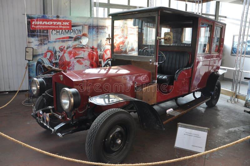 Modern restoration of a car Russo-Balt stock image