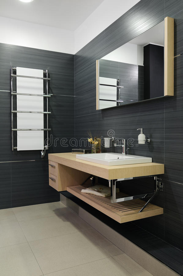 Download Modern restroom stock image. Image of attractive, bathtub -  21904779