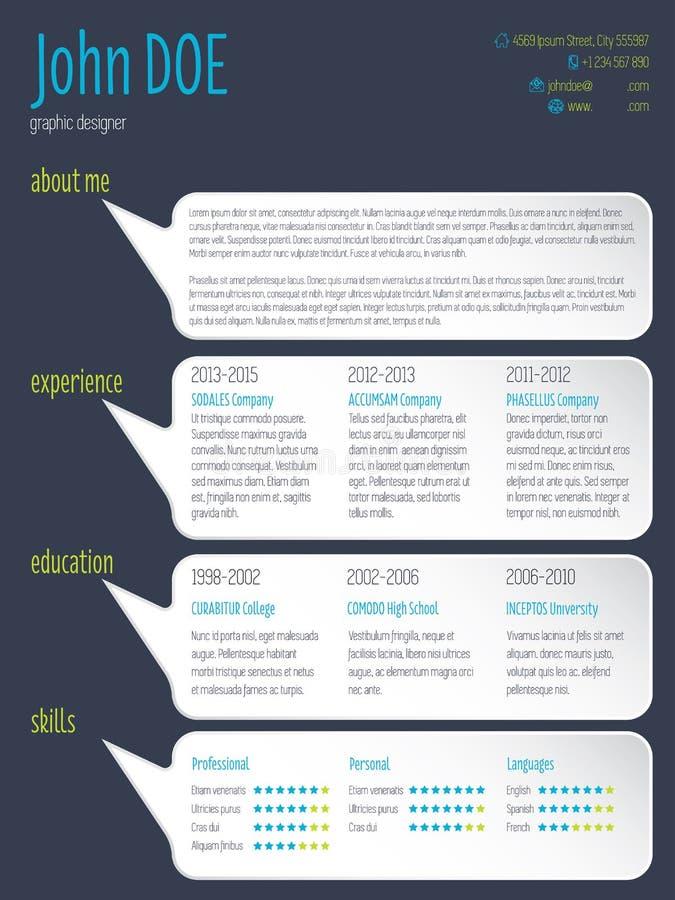 modern curriculum vitae format