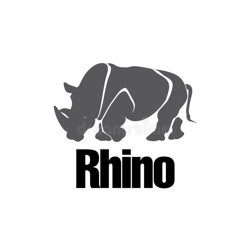 Modern Rinocerossilhouet vector illustratie