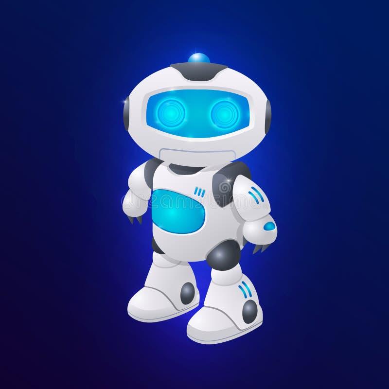 Free Modern Robot Character Vector Illustration. Future Technologies, Artifical Intelligence Stock Photos - 156331363