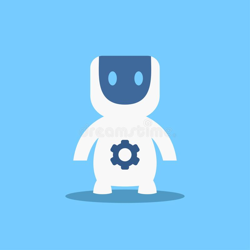 Modern Robot, Futuristic Artificial Intelligence Mechanism Technology Flat Vector Illustration vector illustration